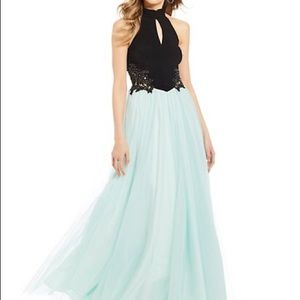 NWT Blondie Nites Tulle Black Blue Ball Gown